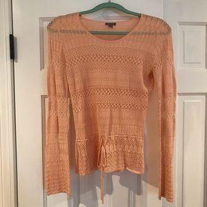 Ann Taylor blush silk blend sweater